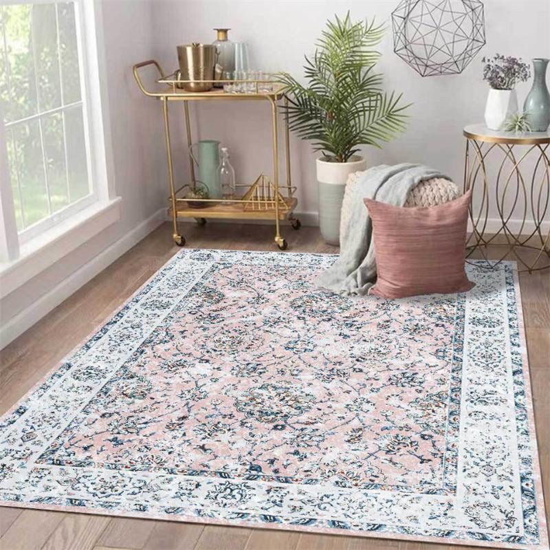 acheter europe vintage style lumiere rose gris fleur tapis salon pale old imprime tapis chambre sweet girl salle de chevet mat de 14 97 du baolv