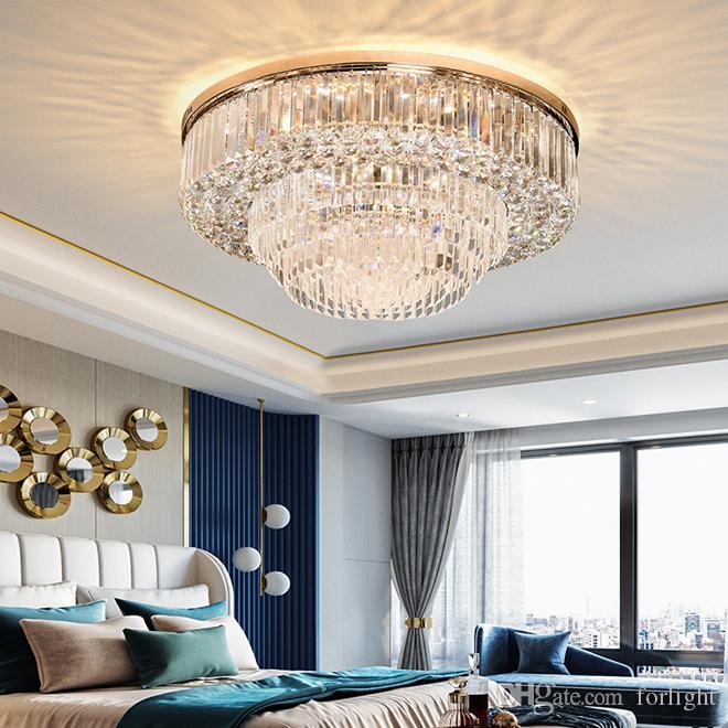 contemporary luxury crystal flush mount