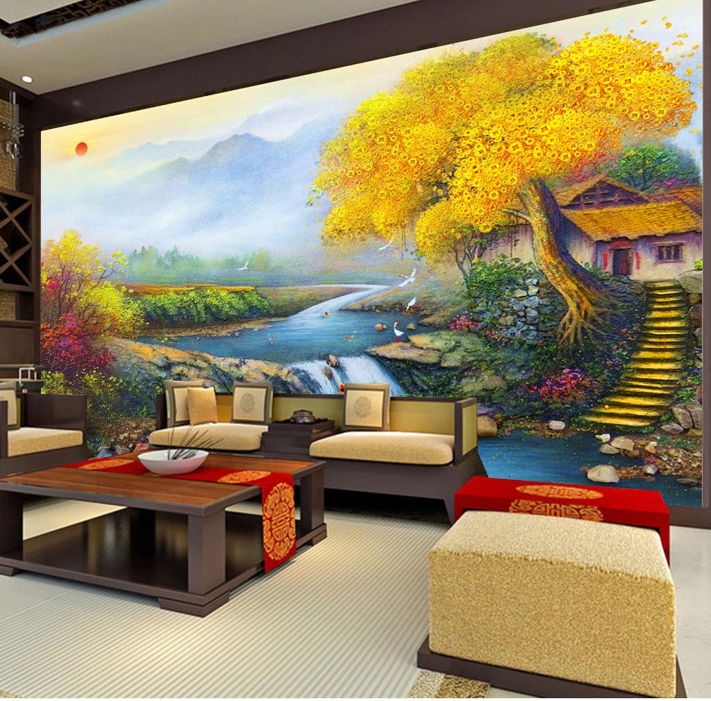 Good Luck Lucky Treasure Family Feng Shui Painting Living Room Bedroom Tv Background Wall Wallpaper Widescreen Desktop Wallpaper Free Widescreen