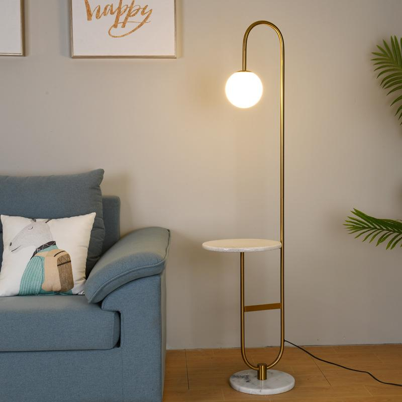 2020 Creative Modern Simple Living Room Floor Lamp Nordic Glass Led Standing Lamp Bedroom Hotel Room Tea Table Floor Lamps Home Decor From Departuremary 262 82 Dhgate Com