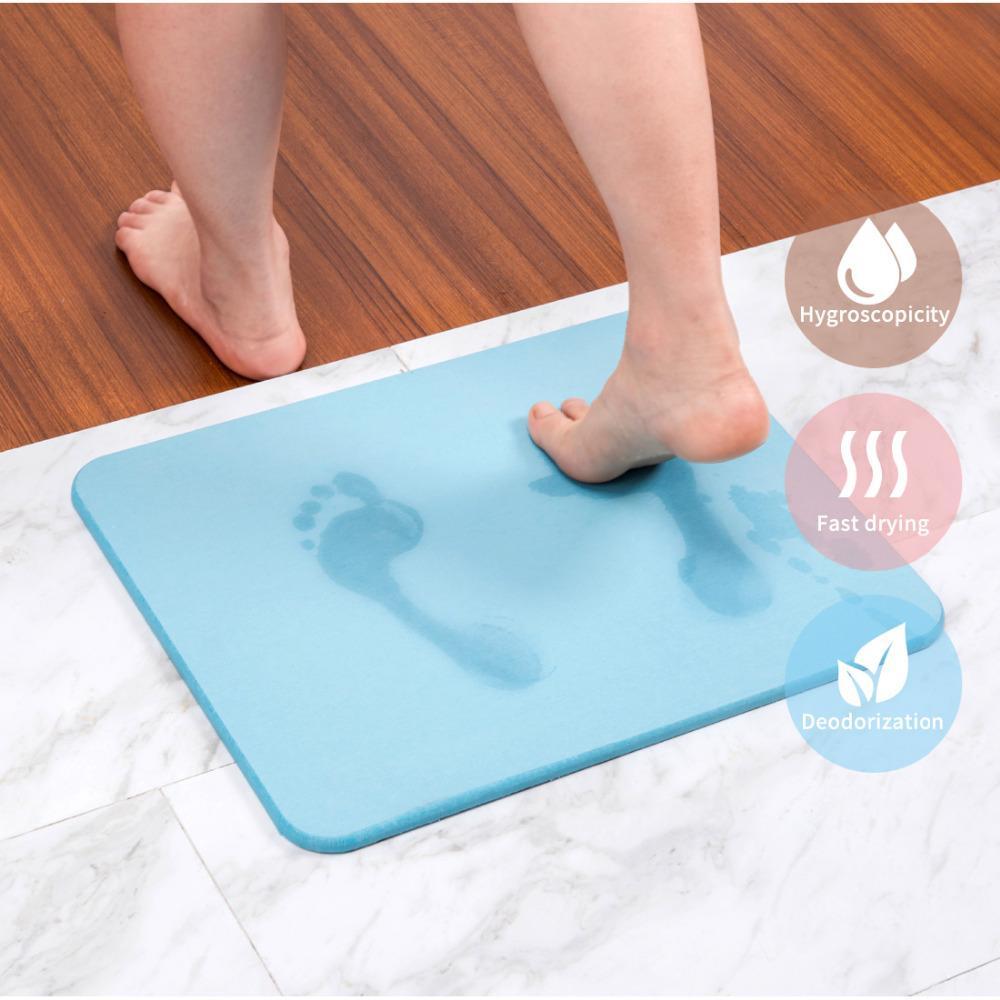 acheter tapis de bain tampon absorbant a sechage rapide en diatomite naturel ecologique pour paillasson plancher de cuisine anti derapant designer