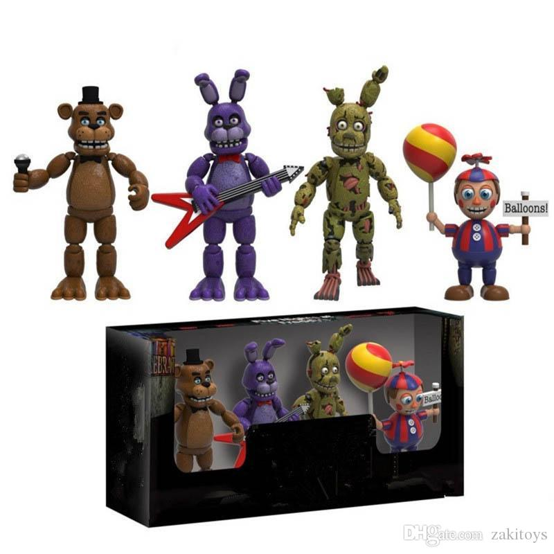 2020 New Arrival Five Night At Freddys Fnaf Action Figures Toys Foxy Freddy Fnaf Pvc Figure Toys For Children Kids 5cm From Zakitoys 24 31 Dhgate Com