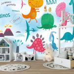 Carton Dinosaur Wallpaper Mural 3d Kids Children Room Wallcoverings For Walls Murals Wall Paper Hd Contact Paper Custom Discount Wallpaper Download Desktop Wallpapers From Griffith 16 84 Dhgate Com