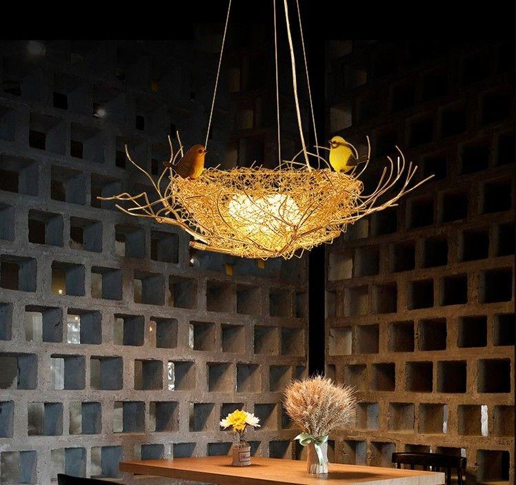 Bedroom Lamp Led Pendant Lights Modern Birds Nest Nordic Light Fixtures Creative Aluminum Lampara Colgante Glass Bird Egg Lamps Llfa Pendant Lamp Shades Glass Pendant Light Shades From Nimiled 358 92 Dhgate Com