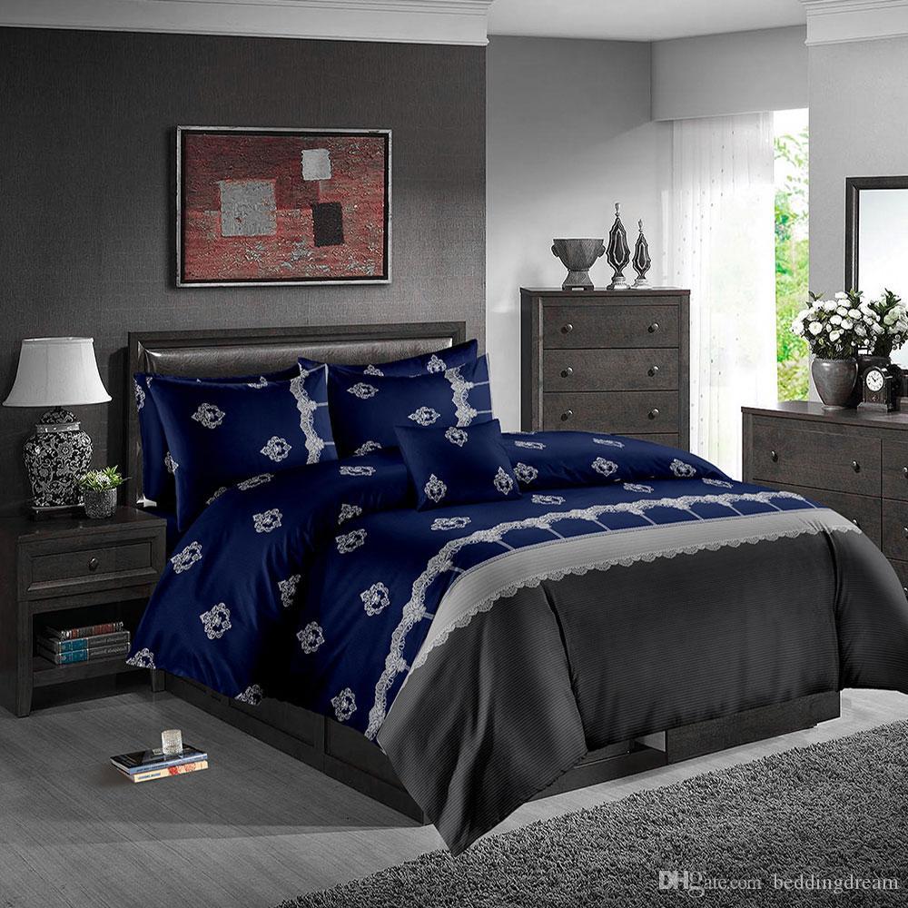 navy blue bedding set queen size