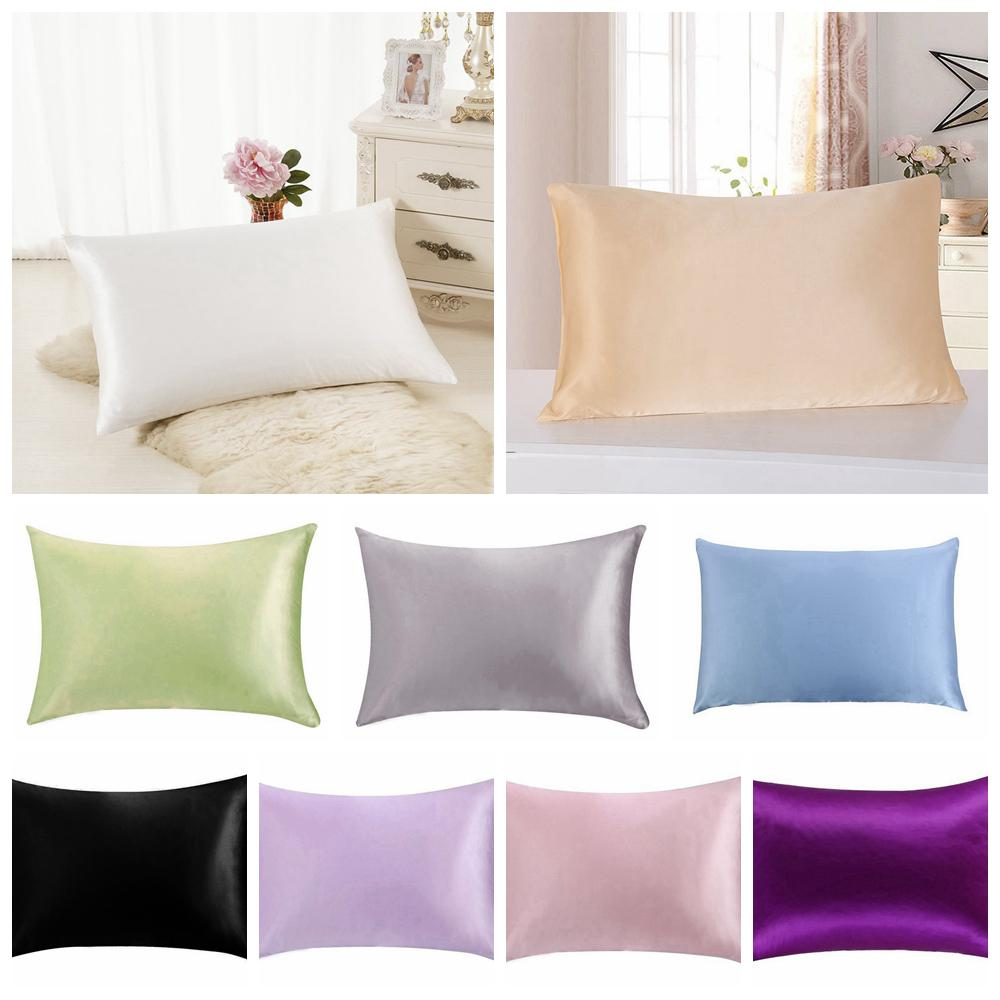 luxury solid mulberry silk pillow cases