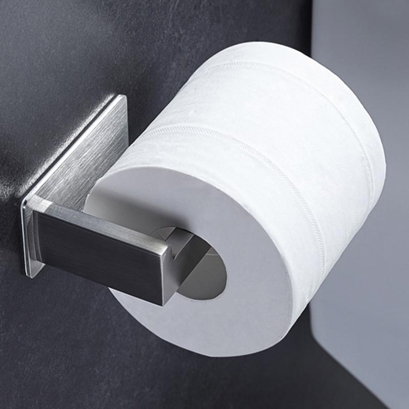 2020 Bathroom Toilet Paper Roll Holder Self Adhesive Stainless Steel Kitchen Tissue Hanging Holder Wall Mounted Paper Holder Brushed From Minggame001 18 67 Dhgate Com