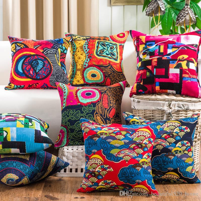 cheap colorful pillow cases 45 x 45cm