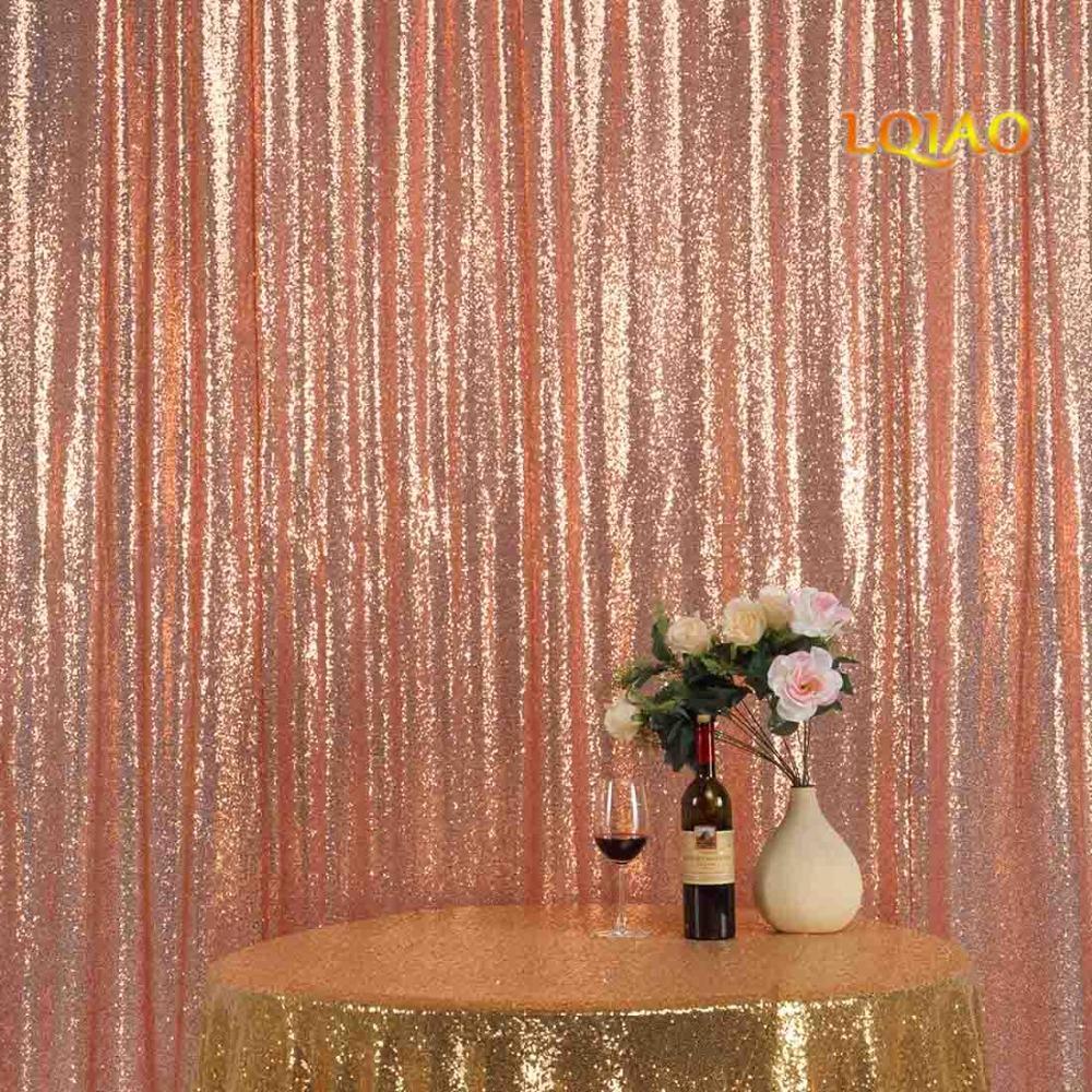 acheter parfaitement 10ftx10ft glitter fond tissu or rose sequin photomaton toile de fond de mariage rideau pour noel decor de mariage de 28 54 du