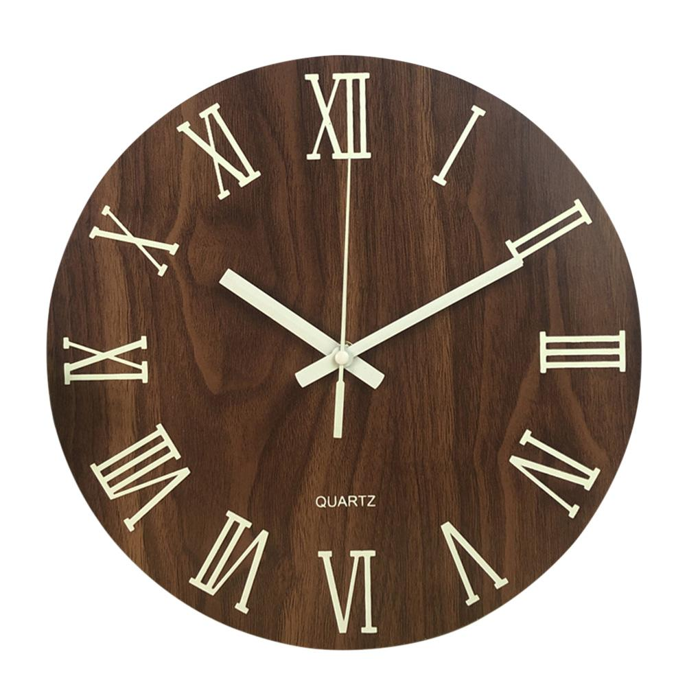 Wall Clock With Night Light Glow In Dark Non Ticking Home ... on Decorative Wall Sconces Non Lighting id=65266