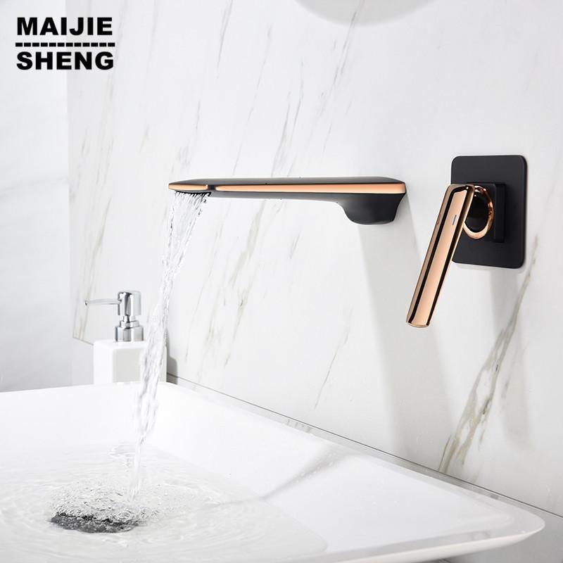 2021 black gold bathroom faucet light