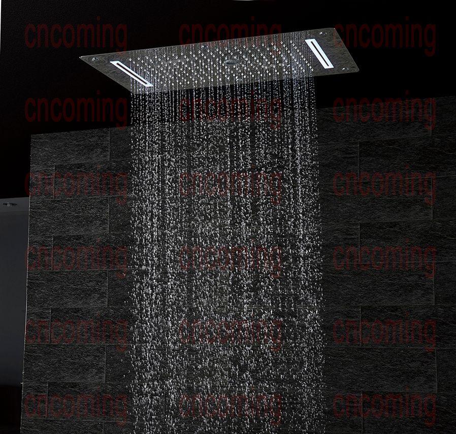 acheter salle de bains de luxe led plafond accessoires de tete de douche sus304 700x380mm fonctions pluie cascade brume douche a bulles df5422 de 363 47 du cncoming fr dhgate com