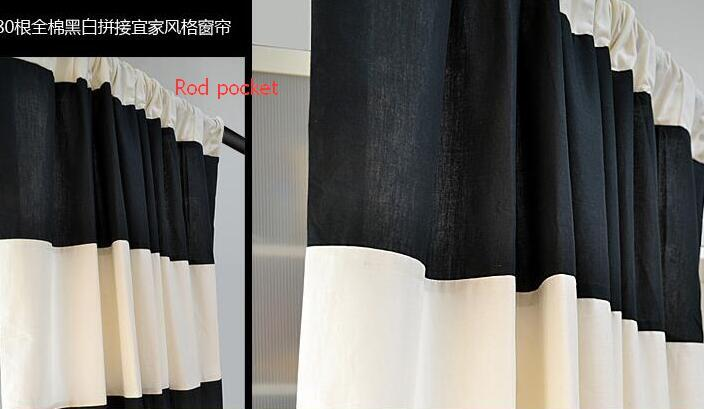 acheter rideau a rayures horizontales en coton noir et blanc en gros one piece only bon pour le rideau de style moderne de salon de 46 09 du