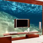 Home Decor Blue The Underwater World 3d Mural Wallpaper Custom Wall Murals For Living Room Background Wall Wallpaper For Background Of Computer