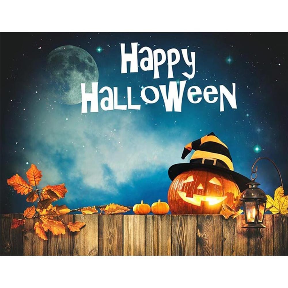 The best free halloween ecards found online. 2021 Happy Halloween Backdrop Night Party Banner Dark Blue Sky Glitter Stars Moon Pumpkin ...