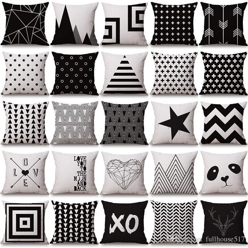 sofa bed nordic throw pillow case