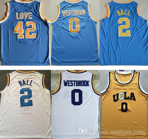 2020 UCLA Bruins College Jerseys #0 Russell Westbrook ...