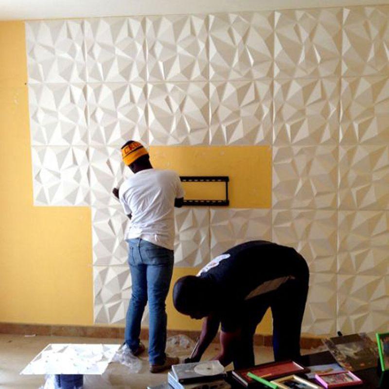 acheter 2019 nouvelle arrivee oem couleur 3d sticker mural 3d panneau de mur en pvc decoratif impermeable conseil mur bricolage papier peint pour la