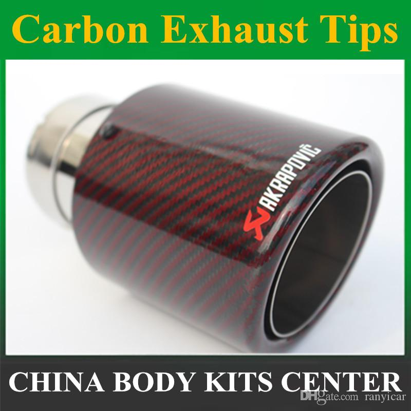 ak car carbon exhaust tips tail pipes