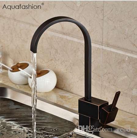 2021 vintage black kitchen faucet oil