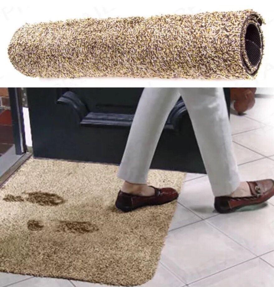 acheter magic clean step mat super absorbant magique paillasson paillasson tapis microfibre lavable pour la maison de 16 38 du hariold