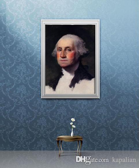 framed george washington portrait us