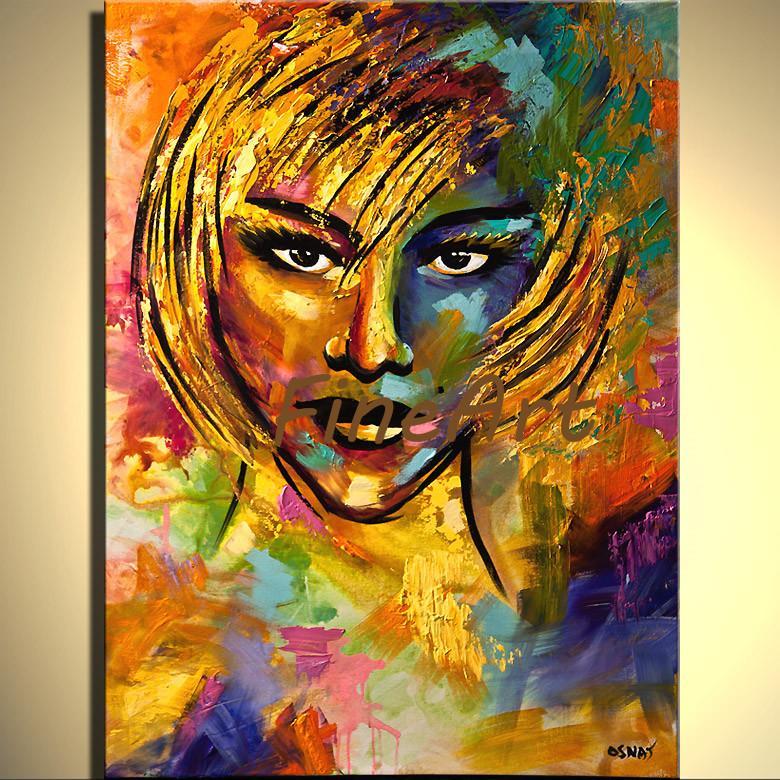 acheter fait a la main abstrait couteau a palette lourde texture fille peinture a lhuile peintures acrylique sur toile peintures art deco vente