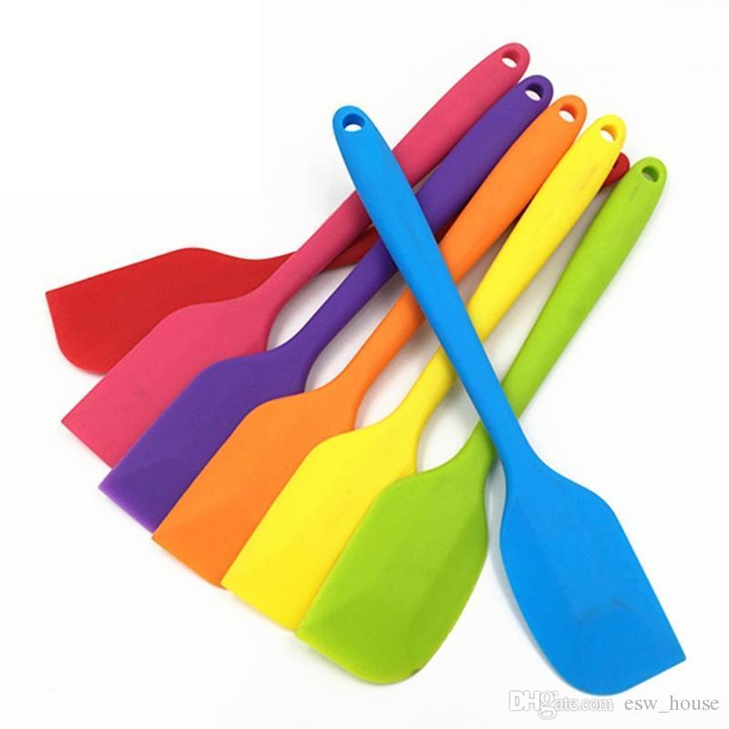 acheter nouvelle spatule en silicone creme beurre grattoir anti adhesif en caoutchouc gateau spatule pour la cuisson cuisson resistante a la chaleur