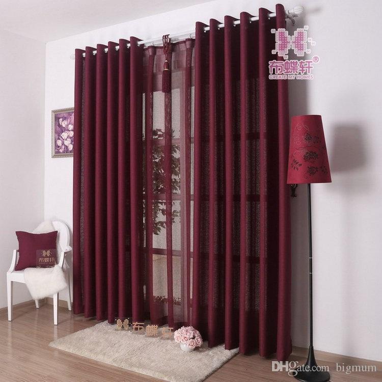 acheter couleur solide rideau pour salon cuisine rideaux voile 9 couleurs gris bourgogne jaune violet blanc shade drapery de 14 26 du