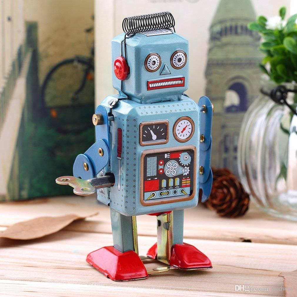 acheter vintage mecanique mecanique a remonter en metal robot de marche tin jouet enfants cadeau unique collection robot jouet en etain de 9 44 du