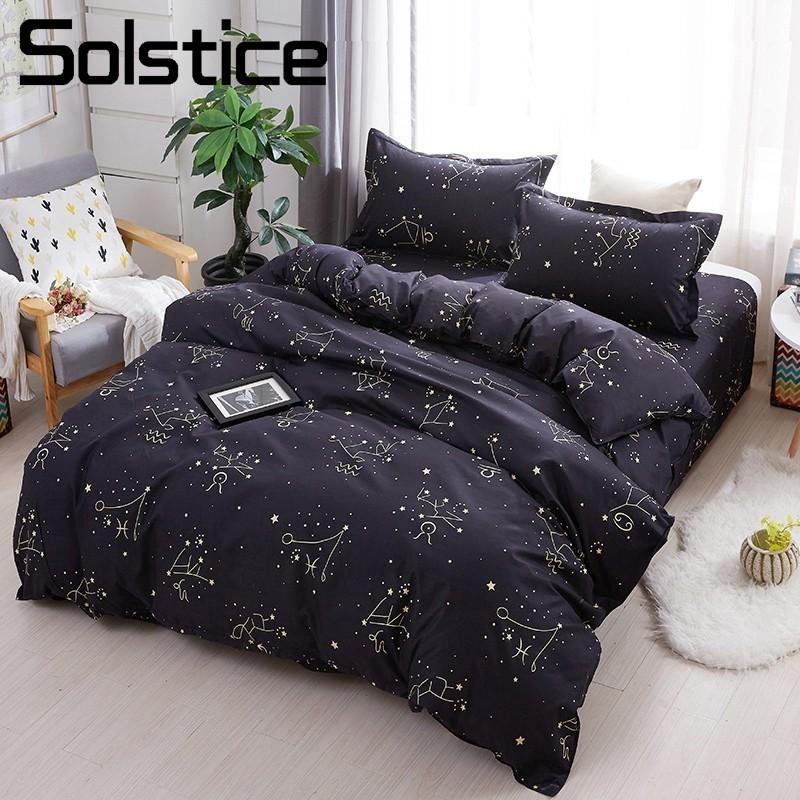solstice home textile star night sky