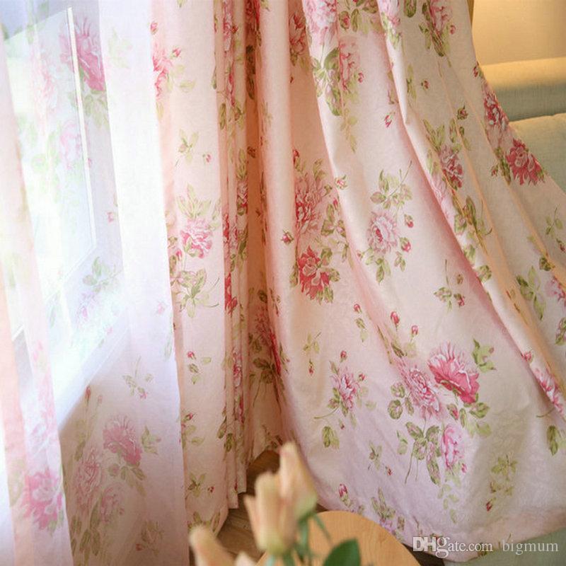 acheter rideau floral rose rideaux semi blackout rideaux rideaux pour salon bdroom cuisine romantique roses fenetre transparent transparent tulle de