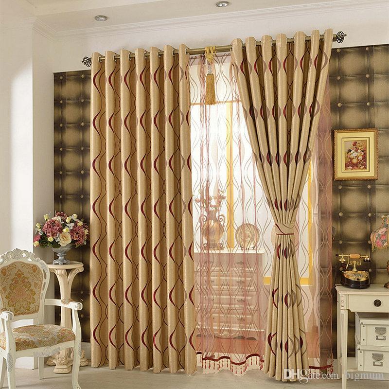 acheter epais impression recto verso impression raye design rideau de panne de lumiere pour salon chambre fenetre rideaux traitement decoration de la