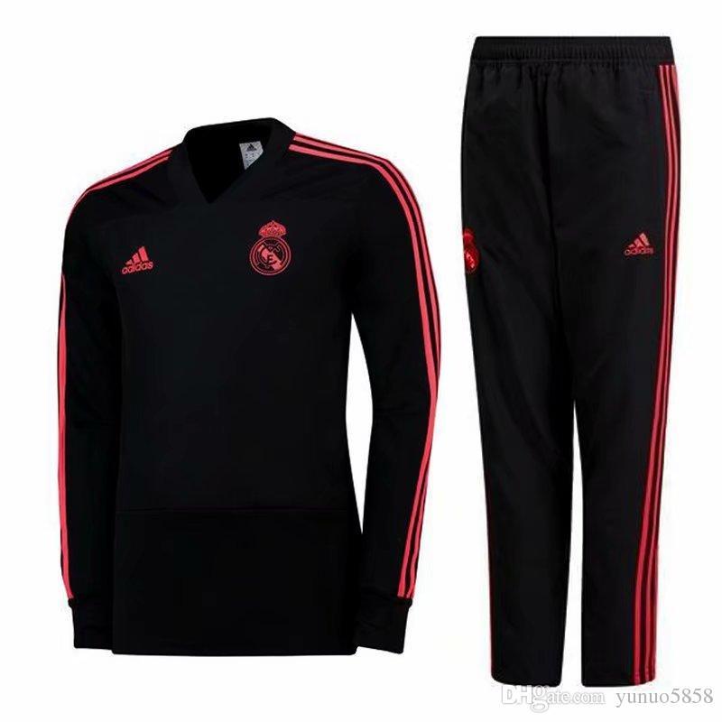 grosshandel real madrid schwarz pink soccer trainingsanzug herren psg white frankreich 2 sterne juventus barcelona maillot de fuss sport jacke
