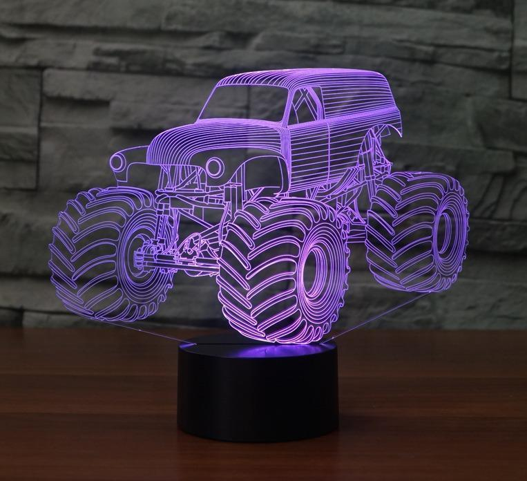 2020 Big Size Grave Digger Monster Truck 3d Desk Lamp 7 Changeable Colors Night Light R45 From Aesto 20 29 Dhgate Com