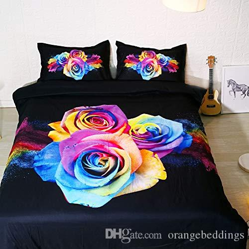 rainbow rose bedding set full set pink