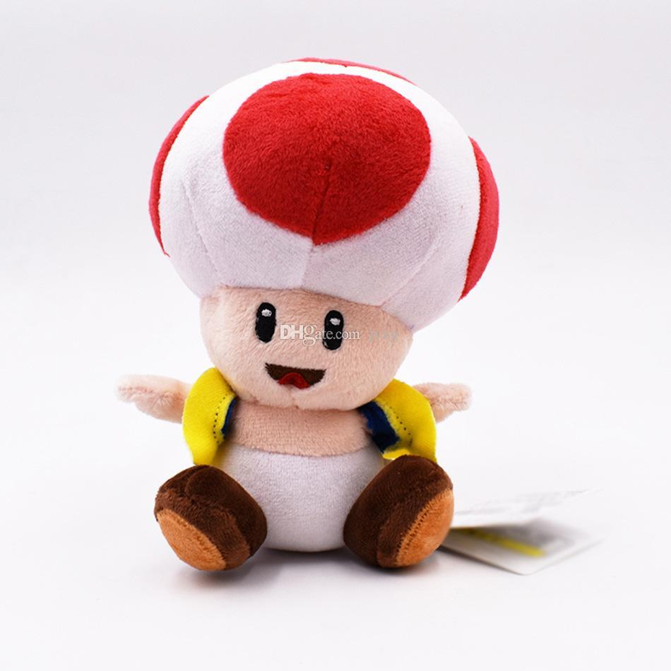 2020 17cm Super Mario Mushroom Hairstyle Toad Plush Stuffed Toy Mushroom Mario Plush Toys Best Gift Doll Lol From Fine333 4 36 Dhgate Com