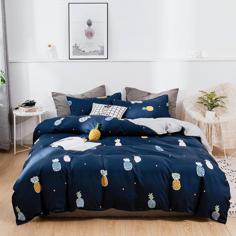 navy blue colorful pineapple cartoon
