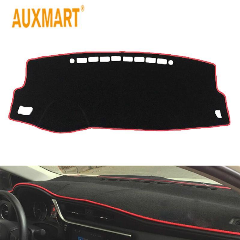 acheter auxmart voiture rouge tableau de bord tapis de tableau de bord antiderapant pad antiderapant noir avec bordure de couleur pour toyota corolla