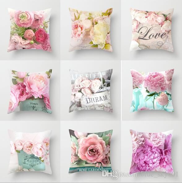 rose gold pink cushion cover