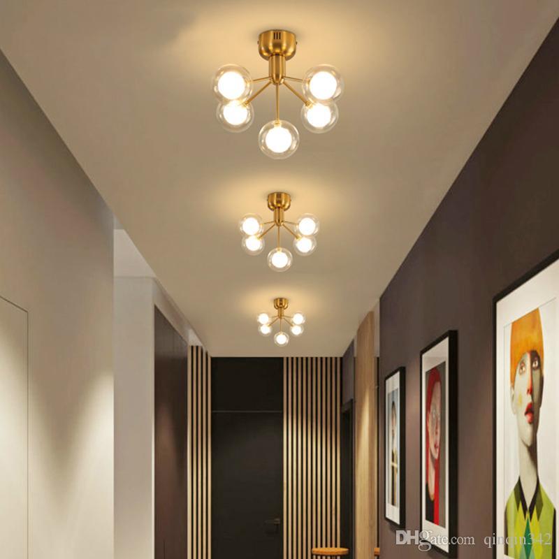new modern glass ball led chandelier