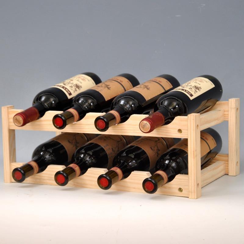 solid wooden wine rack bottle holder