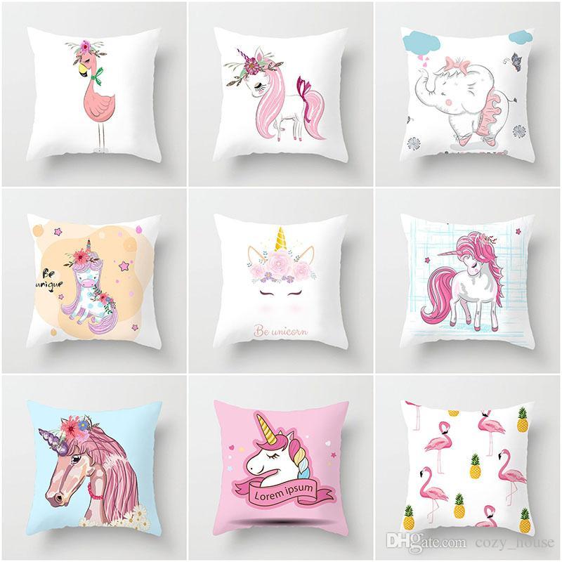 cheap unicorn pillowcase printed pillow