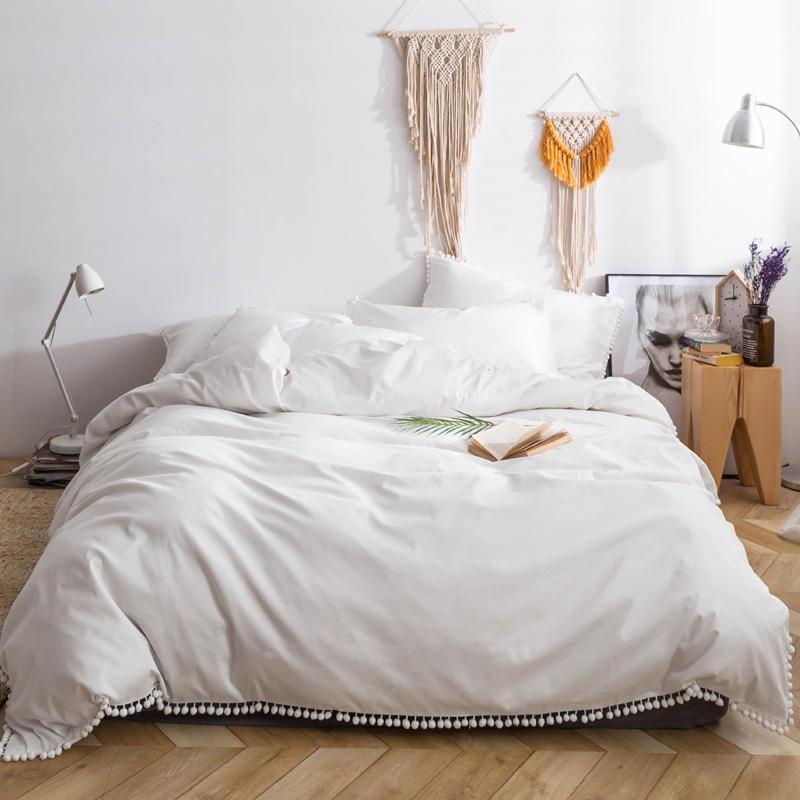 100 cotton white bedding set queen king