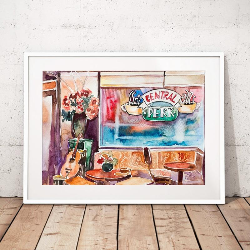 friends tv show poster print wall art central perk i ll be there for you antiquitaten kunst worldretouch kunst