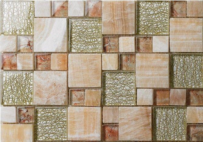 2021 yellow stone glass mosaic tile