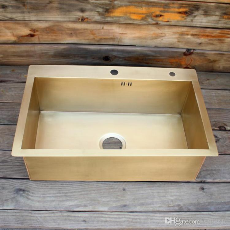 2021 brass kitchen sink smooth surface