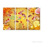 2019 Original Contemporary Giclee Print On Canvas Wall Art China S Wind Feng Shui Koi Fish Painting Living Room Office Home Decor Hyl A1040 From