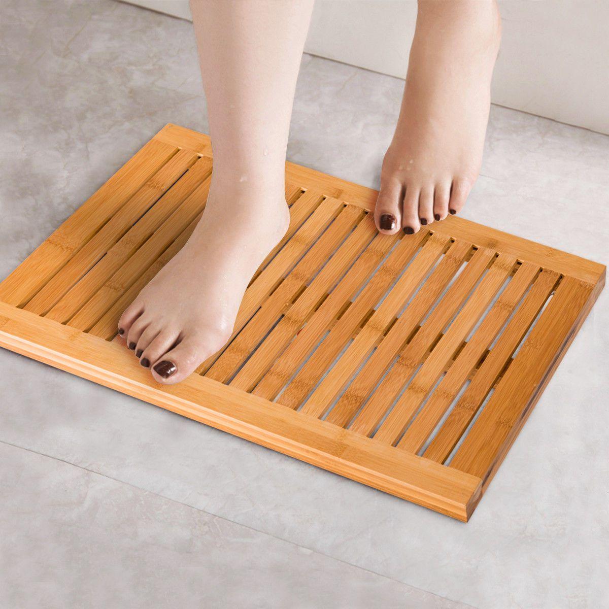 acheter tapis de douche en bambou tapis de sol pour salle de bains spa sauna antiderapant et resistant a la moisissure de 24 62 du huangxinxin16