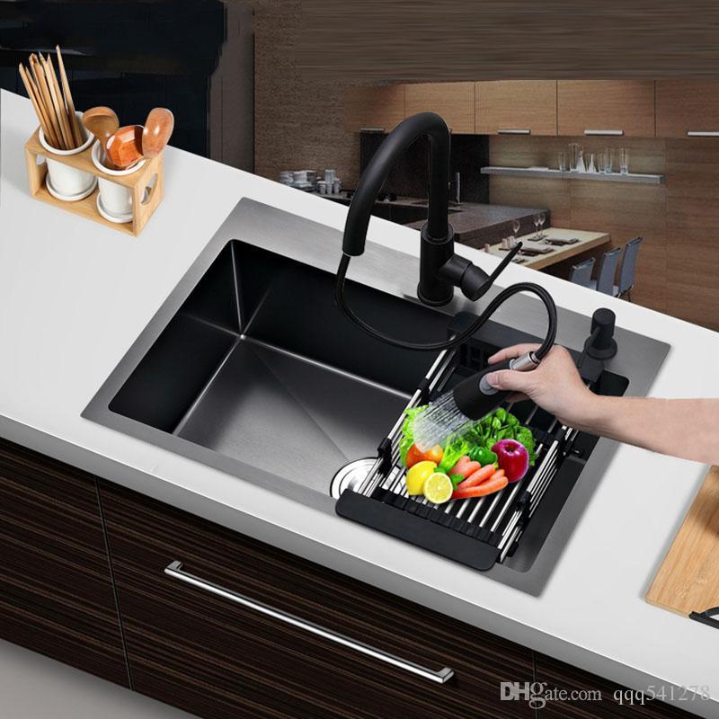 2021 matt black single kitchen sink